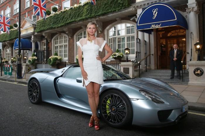 Maria Sharapova Porsche 918 Spyder Wimbledon 1