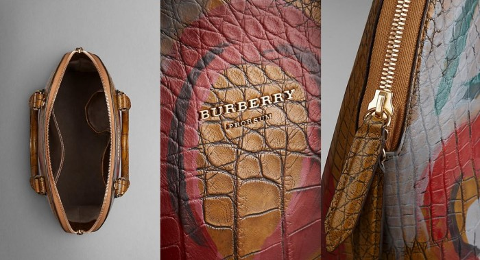 Burberry Bloomsbury in Hand-Painted Alligator 4
