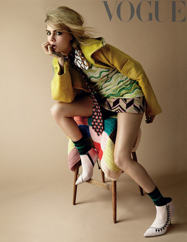 Cara Delevingne Vogue UK September 2014 - 2