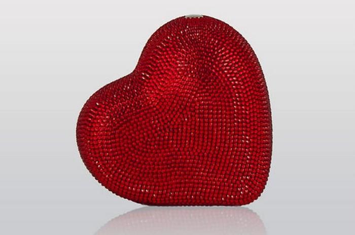 Judith Lieber Heart Clutch