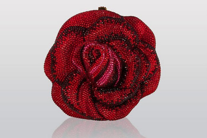 Judith Lieber Rose Clutch
