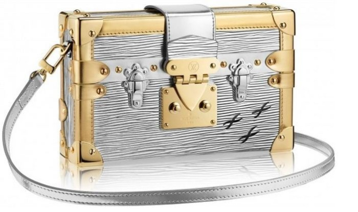 Louis Vuitton - 2014 FW Petite Malle Epi Mettalic Silver