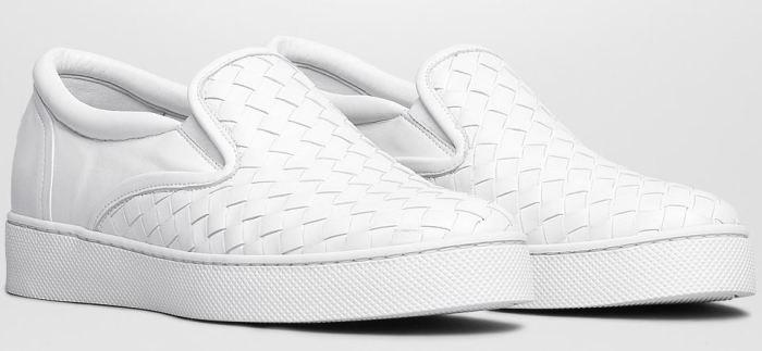Bottega Veneta Intrecciato Nappa Slip-On Sneakers 3