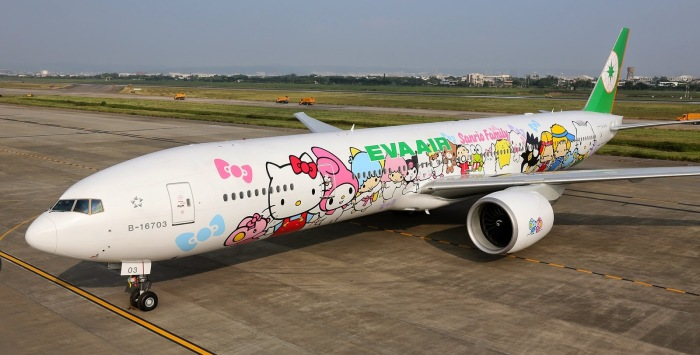 Eva Air Hello Kitty Paris Flight 1
