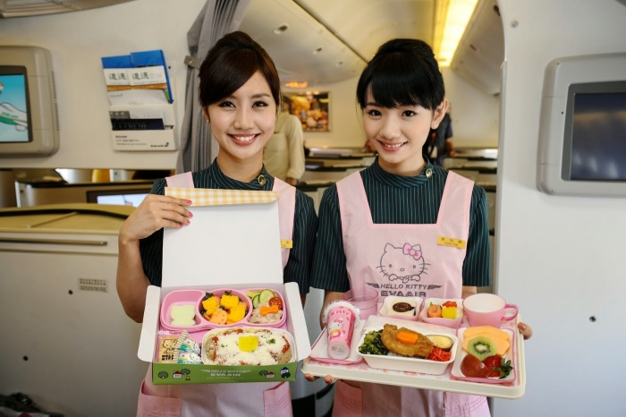 Eva Air Hello Kitty Paris Flight 2