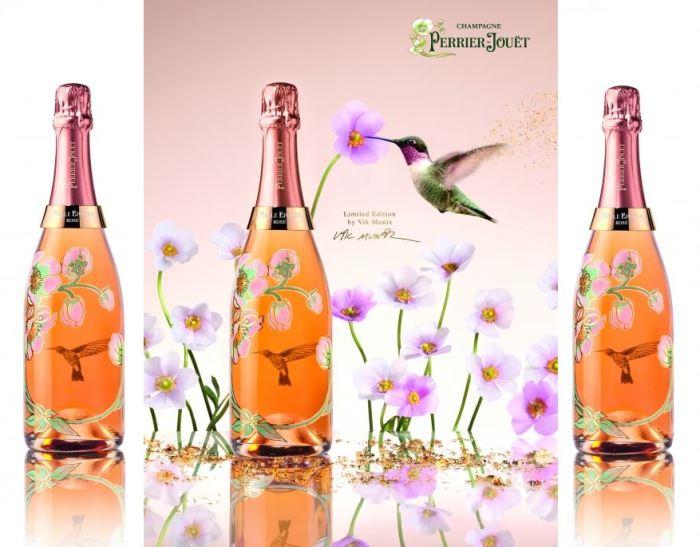 Perrier Jouët Belle Epoque Rosé Vik Muniz Bottle 4