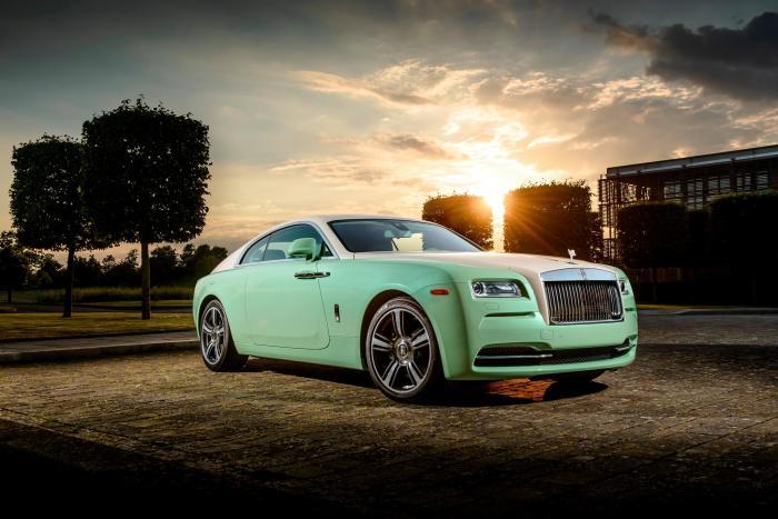 Rolls-Royce Wraith Lime Green 1