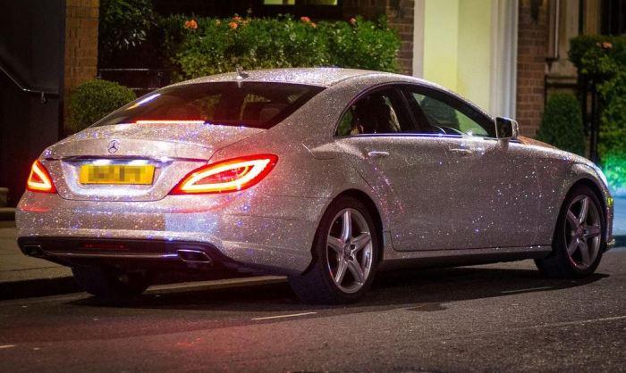 Swarovski Crystal Studded Mercedes CLS 350 1
