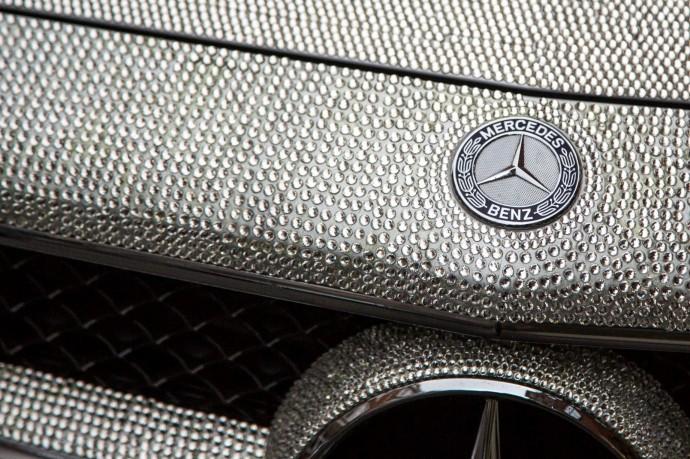 Swarovski Crystal Studded Mercedes CLS 350 2