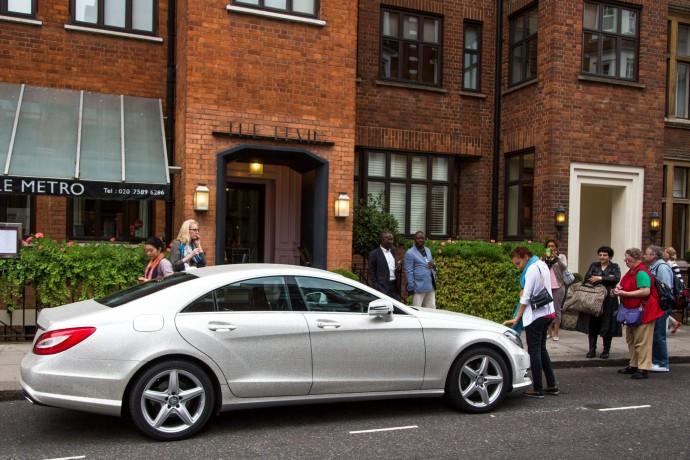 Swarovski Crystal Studded Mercedes CLS 350 7