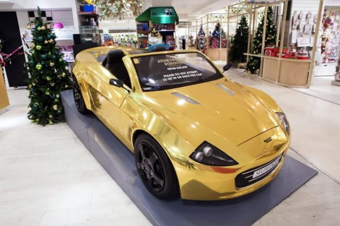 Atom Car Gold-Plated At Selfridges