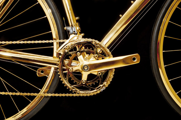 Goldgenie 24K Gold Men's Racing Bike 4