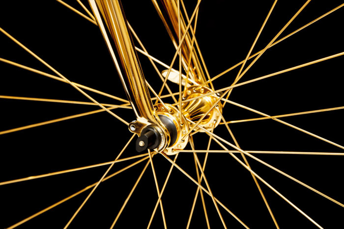 Goldgenie 24K Gold Men's Racing Bike 5