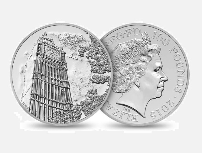 Royal Mint £100 Silver Coin 1