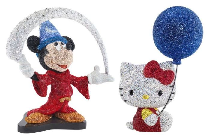 Swarovski Studded Mickey and Hello Kitty 1