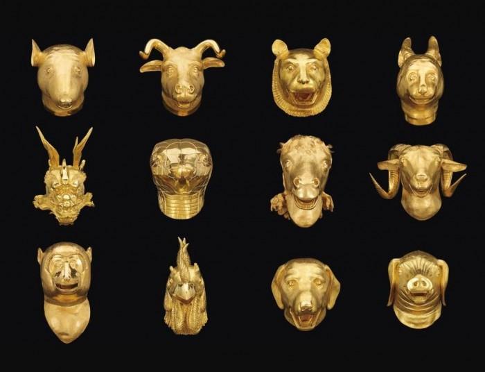 Ai Weiwei Zodiac Heads Gold Plated 1