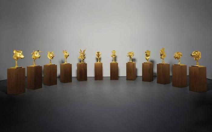 Ai Weiwei Zodiac Heads Gold Plated 2