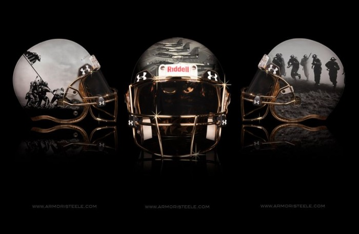 Armorie Steel Home Of The Brave Football Helmets 2