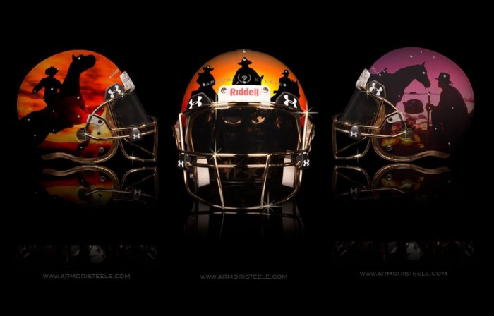 Armorie Steel Home Of The Brave Football Helmets 4