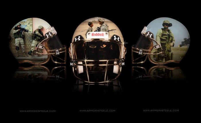 Armorie Steel Home Of The Brave Football Helmets 6