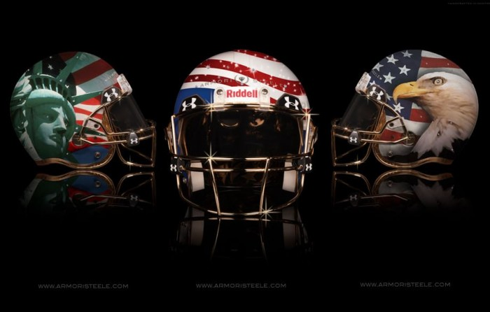 Armorie Steel Home Of The Brave Football Helmets 7