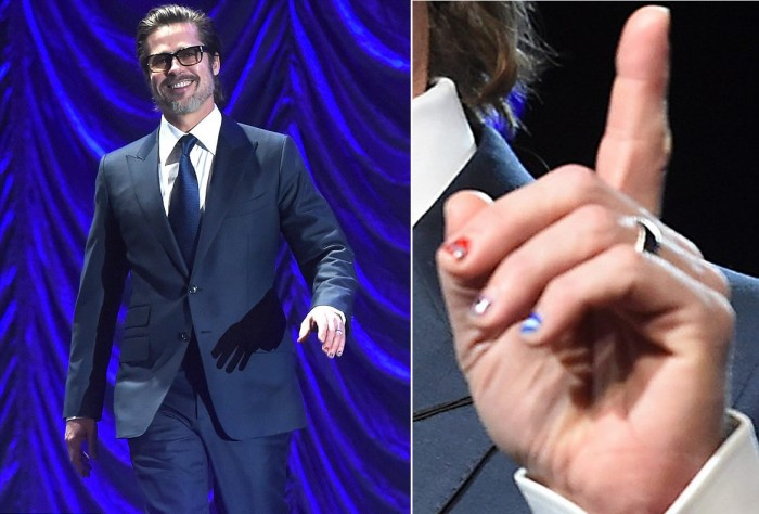 Brad Pitt Nail Art 3
