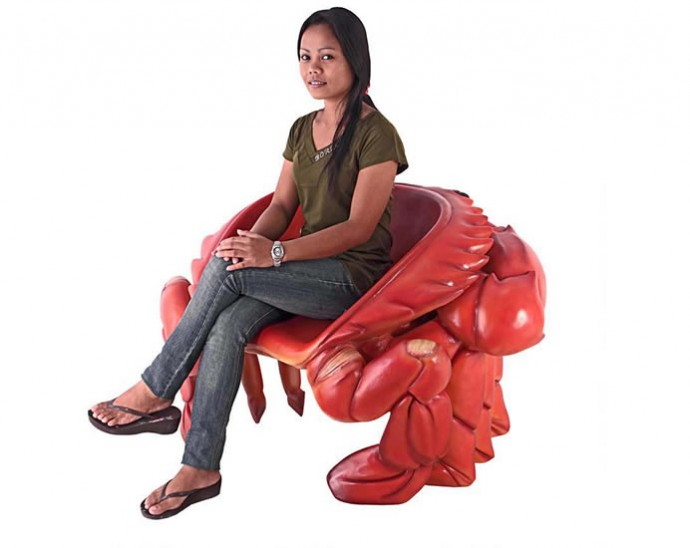 Giant Red King Crab Chair 3