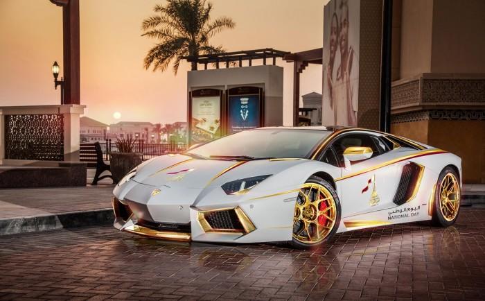 Gold Plated Lamborghini Aventador LP700-4 1