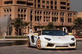 Gold Plated Lamborghini Aventador LP700