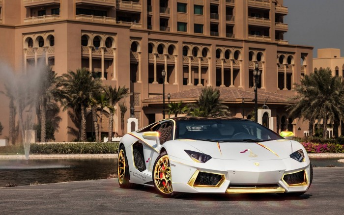 Gold Plated Lamborghini Aventador LP700-4 2