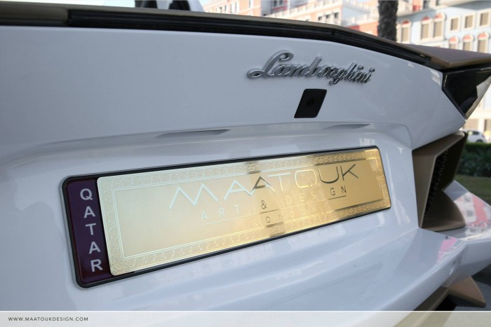 Gold Plated Lamborghini Aventador LP700-4 6