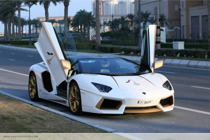 Gold Plated Lamborghini Aventador LP700-4 7