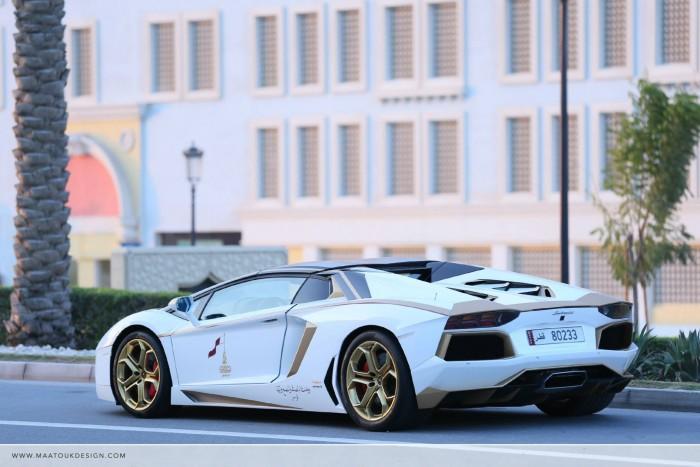Gold Plated Lamborghini Aventador LP700-4 8