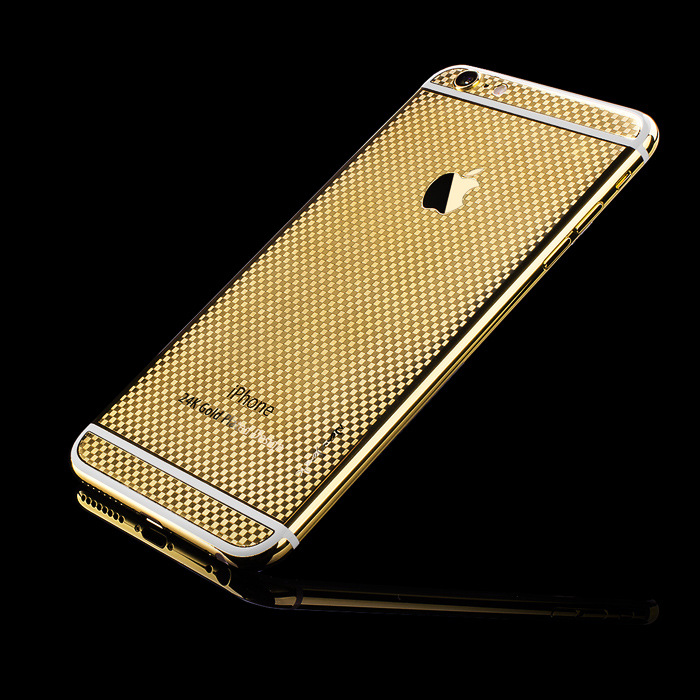 iPhone 6s Plus Carbon 24K Gold Cover