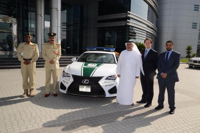 Dubai Police Lexus RC F 1