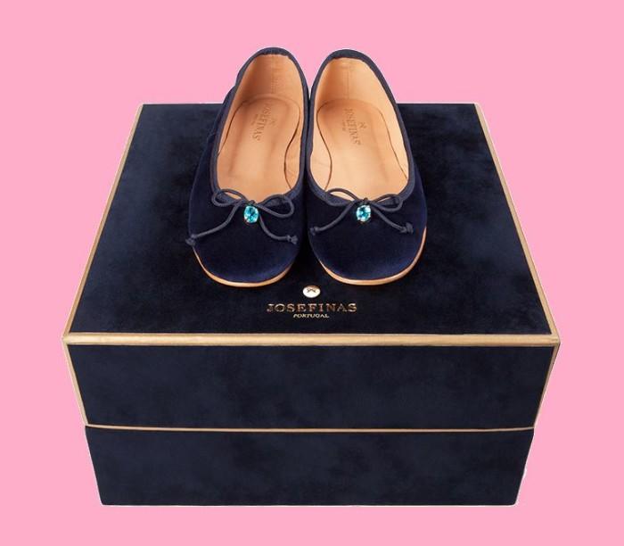 Josephinas Blue Persian Salt Ballet Flats 5
