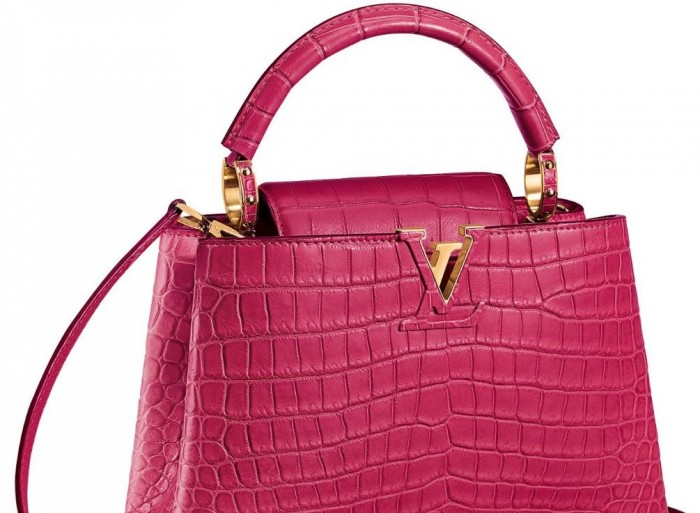 Louis Vuitton - Capucines BB in Pink Crocodile 1