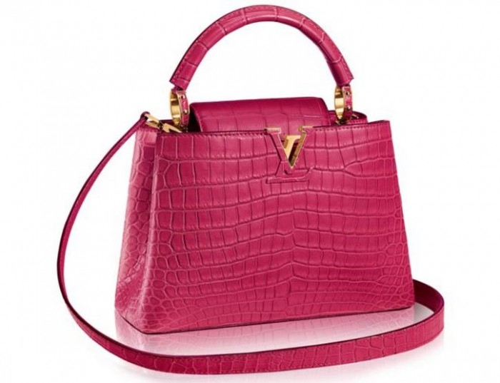 Louis Vuitton - Capucines BB in Pink Crocodile 2