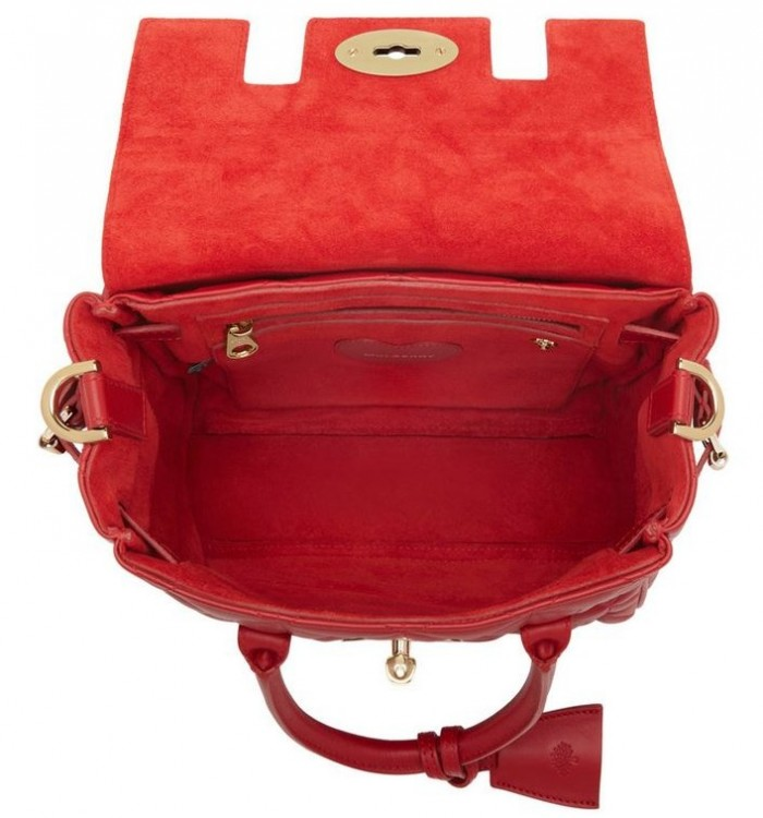 Mulberry Mini Cara Delevingne Bag Poppy Red 3