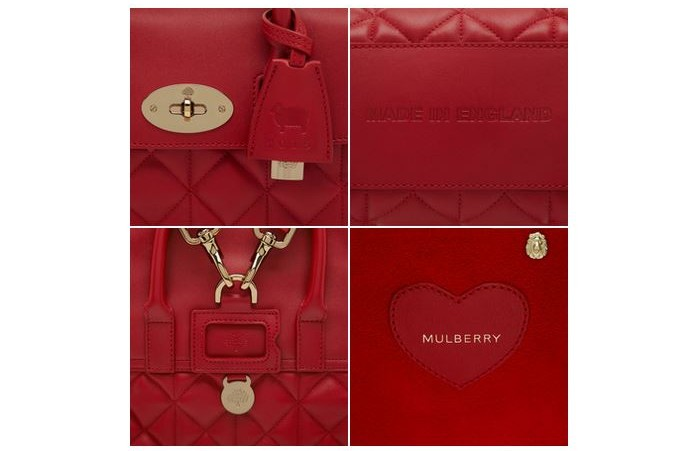 Mulberry Mini Cara Delevingne Bag Poppy Red 5
