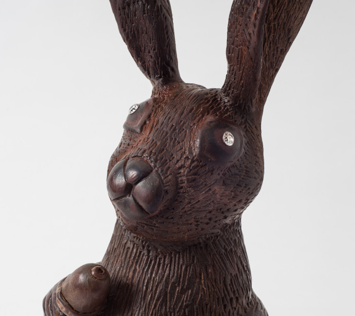 Chocolate Easter Bunny With Diamond Eyes