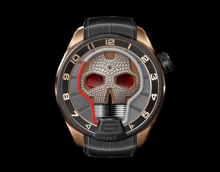 HYT Skull Diamond Watch 1