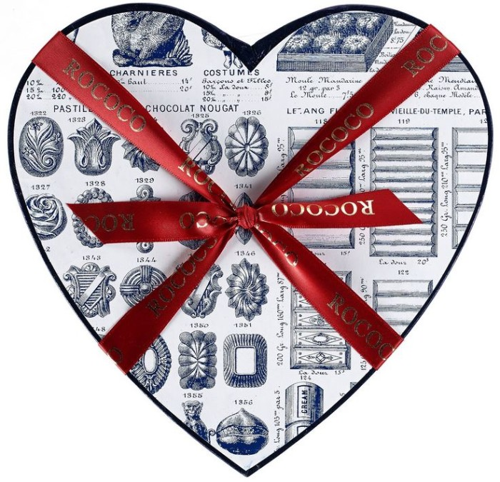 Rococo Chocolate Heart Box 6
