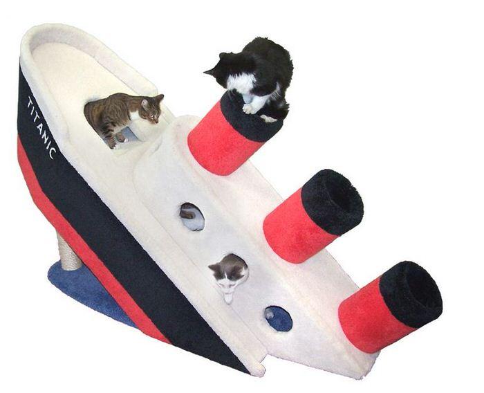 Sinking Titanic Cat Condo