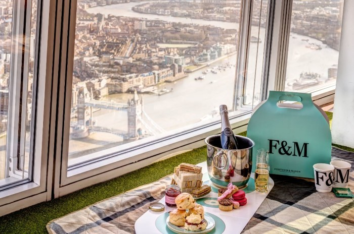The View From The Shard Fortnum & Mason Sky-High Tea 1