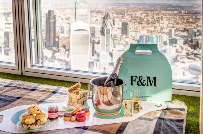 The View From The Shard Fortnum & Mason Sky-High Tea 2