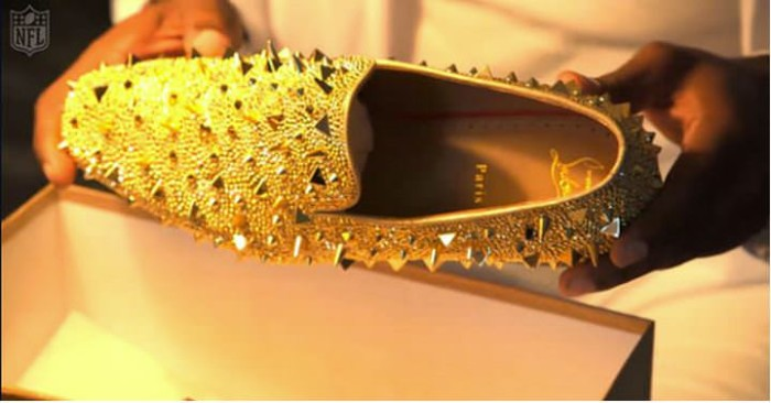 Dante Flower Gold Louboutins