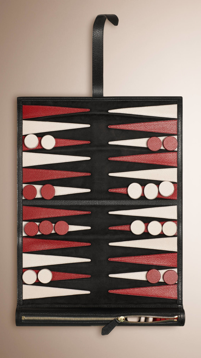 Father's Day - Burberry Leather Travel Backgammon Set