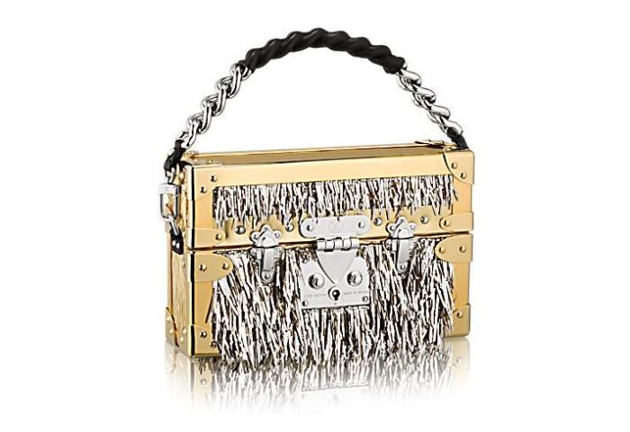 Louis Vuitton Petite Malle Metallic Fur