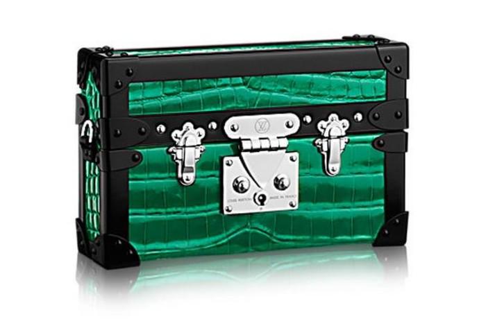 Louis Vuitton Petite Malle Shiny Crocodilian Green